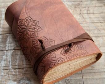 Brown Leather Journal, Handbound Journal