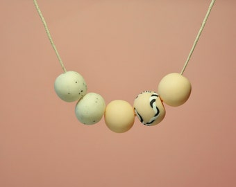 Soft Breeze: Handmade polymer clay necklace