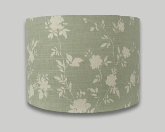 Green Floral Lamp Shade : Green floral drum lampshade lamp shade lightshade cm