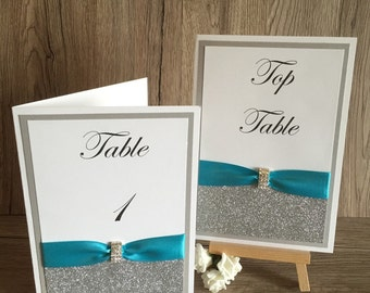 A5 Wedding Table Names or Numbers On the Day stationery