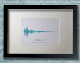 It's our baby's laugh - personalised sound wave frame using your baby's laugh - DIGITAL DOWNLOAD ONLY