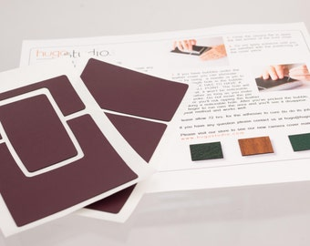 Polaroid SX-70 Model 2 Leatherette Replacement Cover W/ Instructions - Colors Similar To The Original