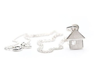Sterling silver/Little house during/silver Sterling / pendant small house/Jewelry Silver sterling/Silver Jewelry / Necklace kids/children