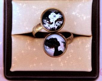 Rings Vintage/Rings Vintage-For women for women/anchor-Anchor/anchor marine-Fimo-pulp polymer/Adjustable/adjustable - joy in pink
