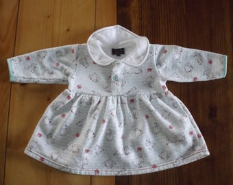 BY KITIWATT vintage dress / dress vintage baby / baby fleece dress ancient