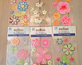 scrapbook flowers , flower stickers