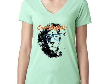 Cool Az Hell Ladies V-Neck Tshirt