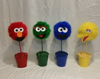Custom Made Sesame Street Centerpieces