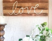 1x2 Hand Lettered, Love W...