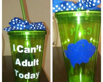 Green Can't Adult Tumbler Cup
