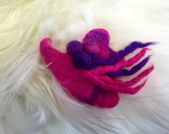 Funky Felted Pin