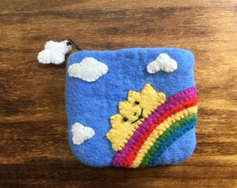 Cute Felted Coin Purse