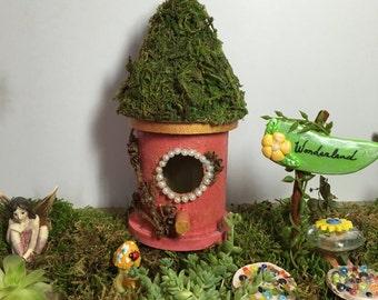 Fairy/Miniature/Terrarium Garden House. Fairy Garden Decor. Birdhouse. Mini Garden. Furniture. Terrarium Decor. Birdhouses. Summer Decor.