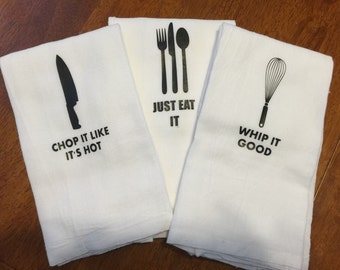 Personalized Kitchen Towels (Set of 3)