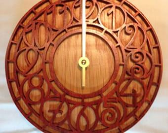 Fretwork Art Deco Wall Clock