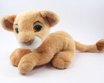 1993 Purring Nala plush - The Lion King, Disney, Simba's girlfriend, purrs, stuffed animal, doll, 1990s toys