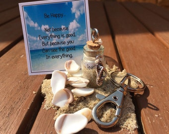 Message in a bottle keychain / Bag charm