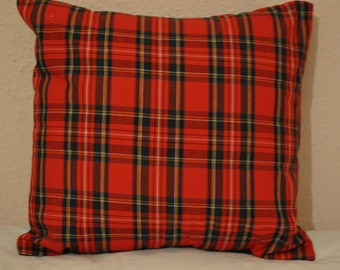 Tartan Pillow Cover, Red Tartan Pillow, Tartan Cushion cover, Christmas Pillow Cover, Red Pillow Cover, Decorative Pillow Cover