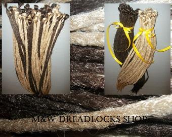 10Pcs - 100Pcs  SE Crocheted Dreadlocks/ One Color/dreads/brown, blonde/ 10Pcs-100 Pcs