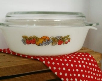 Anchor Hocking Fire King Oval Casserole with Lid