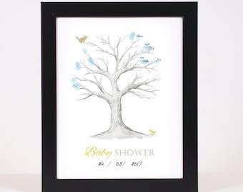 Baby Shower Printable Fingerprint Tree