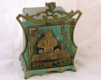 Vintage Rare Tefillin box for Bar Mitzvah Hebrew letters made in Israel Judaica item , ceremonial Jewish item