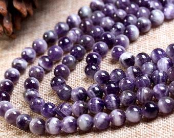 "Natural Amethyst Beads Round Purple Quartz Beads Roundness Bead 6mm to 14mm 15"" Full Strand Jewelry Gemstone Beads Wholesale C017"