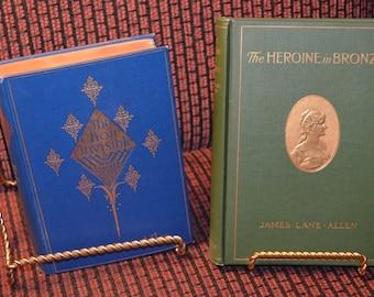 books, antique, vintage, James Lane Allen, The Choir Invisible, The Heroine in Bronze