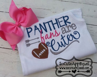 Panther fans are Cuter, Carolina Panthers  Embroidered Toddler T-shirt, Embroidered T-shirt