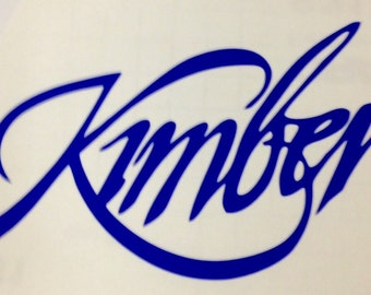 Kimber Vinyl Decal Rifle Sticker