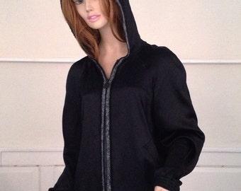 1990s Chanel zipper hoodie