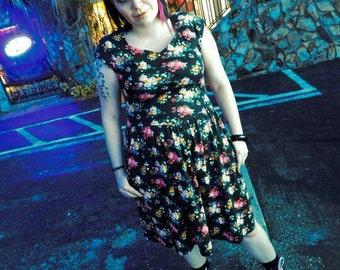 Lanz vintage grunge 90s floral dress