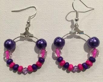 CREOLES violet & Fuchsia