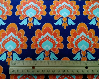 The Quilted Fish damask Fabric by the Yard