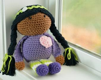 Crocheted Doll, Amigurumi Toy, Stuffie, Baby Gift