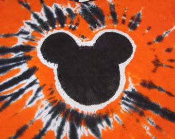 Mickey Mouse Tie Dye Halloween Shirt/Top/Tee
