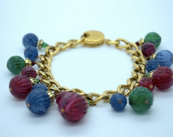 Vintage one of a kind handmade YSL  charm bracelet