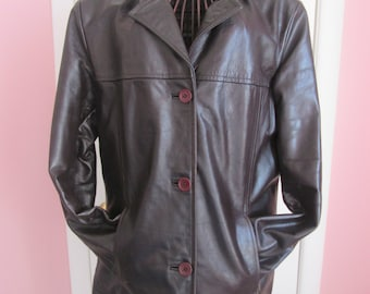 Vintage ladies leather jacket / Vintage leather jacket for Ladies