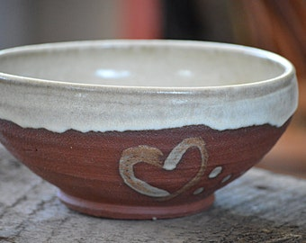 Small Red Stoneware Bowl