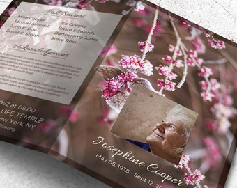 Printable Funeral Program, Obituary Template Editable with MS Word | Hello Sweet Winter
