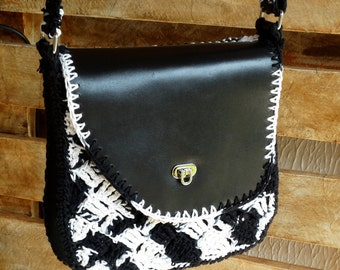 Bag leater and crochet