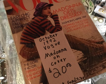 Vogue October 1992 Edition Madonna Cover