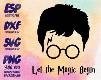 Harry Potter Let the magic begin Clipart , SVG Cutting , ESP Vectors files , T shirt , iron on , sticker ,Personal Use