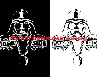 Dark Side hiphop Clip Art,T shirt, iron on , sticker, Vectors files ,Personal Use