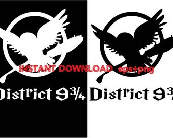 District 9 3/4 Clip Art,T shirt, iron on , sticker, Vectors files ,Personal Use