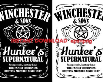 Winchester & son clipart ,T shirt, iron on , sticker, Vectors files ,Personal Use
