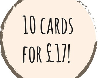 10 pack Greeting Cards