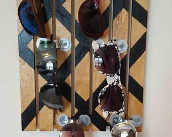 Wall Sunglass Display/Holder (holds 6 pairs) - Vintage/Industrial Style