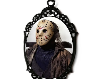 Jason Voorhees Friday The 13th Cameo Necklace