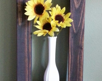 Rectangle Shadow Box Shelf made from Reclaimed and Repurposed Rustic Pallet Wood